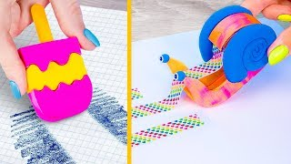 10 DIY Weird Summer School Supplies You Need To Try / Back To School Pranks!