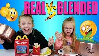 Download REAL FOOD VS BLENDED FOOD CHALLENGE!!! Video