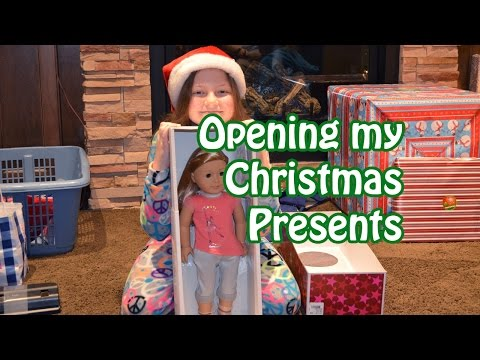 opening christmas presents 2014 american girl more bethany g - Christmas Ideas For Girlfriend 2014