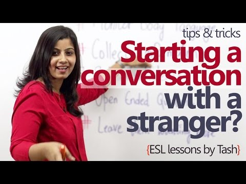 How to start a conversation with a stranger? - Spoken English lesson