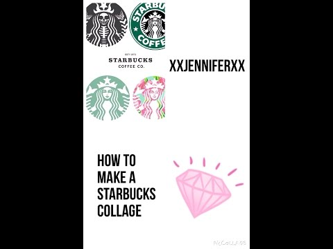 How to make a Starbucks collage