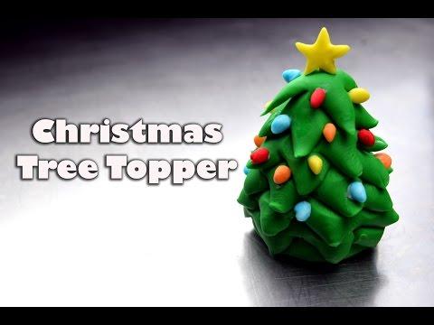 How To Make An Easy Fondant Christmas Tree Topper   Christmas Cupcakes