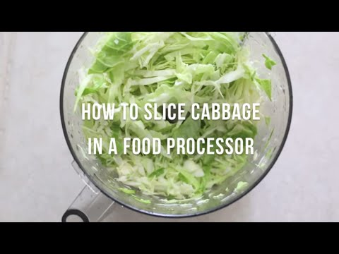 How to slice cabbage in a food processor | by @cooksmarts