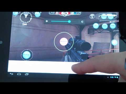 Modern Combat 4 on an Android tablet with a PS3 Controller - Setup & Gameplay