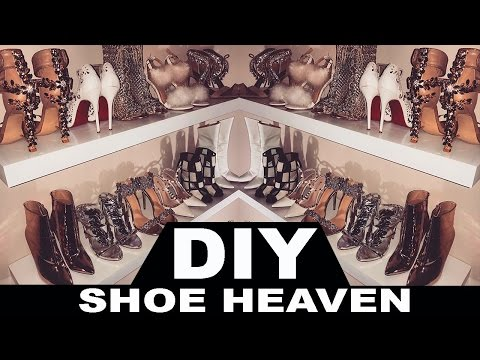 DIY SHOE SHELF (AKA SHOE HEAVEN!)