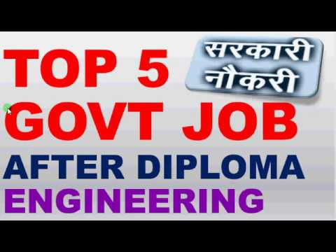 TOP 5 GOVT JOB AFTER DIPLOMA ENGINEERING
