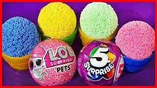 Learn Numbers Play Doh Ice Cream Cups,lol Dolls Surprise,zuru 5,disney Princess Kinder Eggs