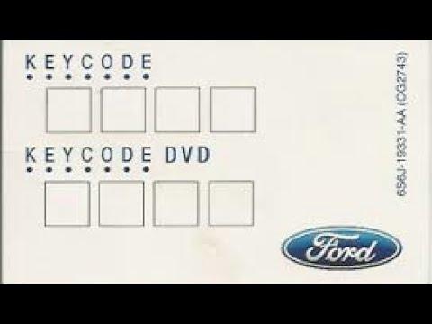 Ubicación Key Code y Radio Code Ford Ecosport