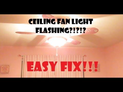 Ceiling Fan Flickering!?!  EASY FIX!!!