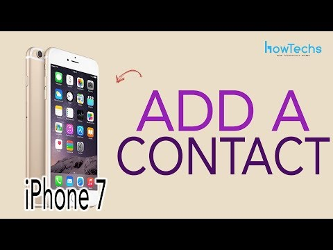iPhone 7 - How to Add and Delete a Contact