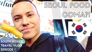 Download KOREAN STREET FOOD, MYEONGDONG + MEERKAT CAFE | SEOUL SOUTH KOREA TRAVEL VLOG 2018 | EPISODE 1 Video