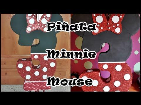 DIY: Cómo hacer una Piñata de Número de Minnie Mouse / Minnie Mouse Number Pinata Tutorial