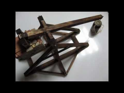 How To Build a Catapult - Trebuchet Model Part 1