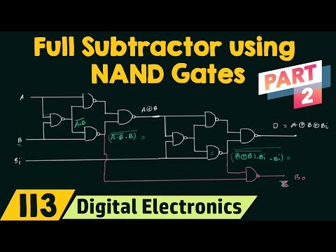 Realizing Full Subtractor using NAND Gates only (Part 2)