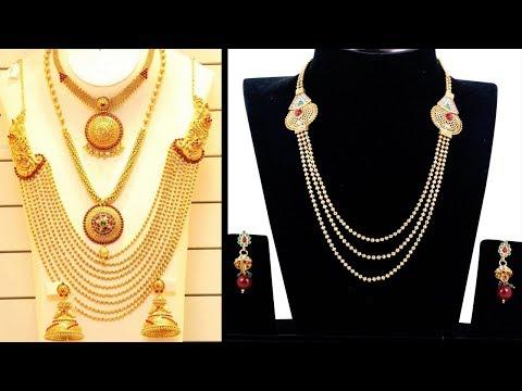 Latest New Models Gold Haaram Jewellery Designs - She Fashion