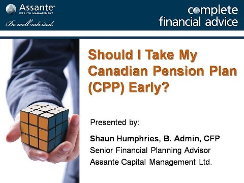 Should You Take Canada Pension Plan Benefits Before Age 65?