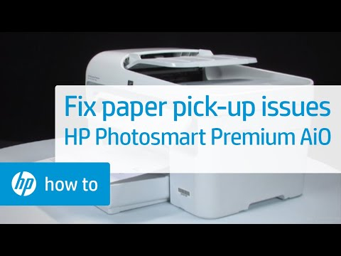 Fixing Paper Pick-Up Issues - HP Photosmart Premium All-in-One Printer (C309a)