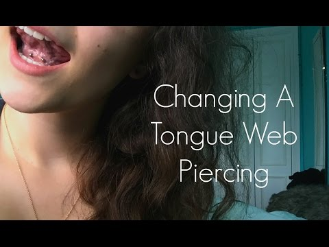 HOW TO CHANGE A TONGUE WEB PIERCING