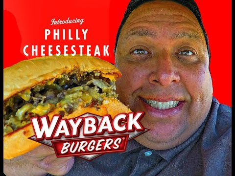 WAYBACK BURGERS®  Philly Cheesesteak REVIEW!