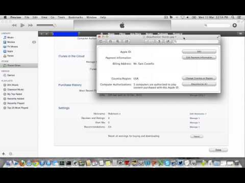How to Authorize and DeAuthorize a Computer on iTunes ?