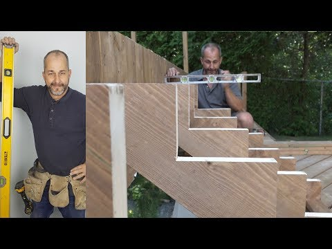 How to build a deck Part 7 Stairs
