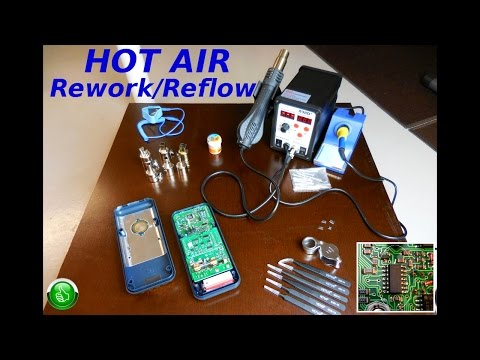 Hot Air Reflow/Rework SMD IC Swap(Tutorial)