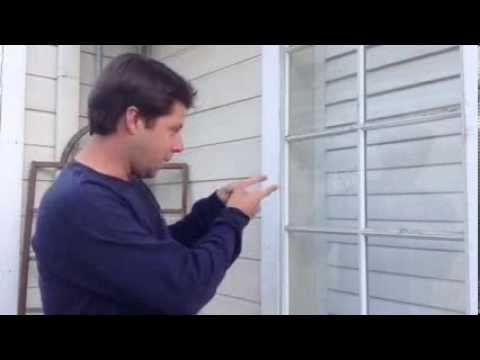 How to repair a broken window in an aluminum frame - Part 1