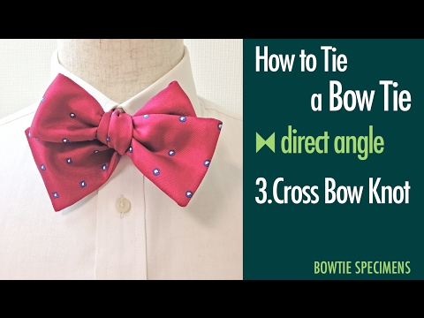 How to Tie a Bow Tie/3.Cross Bow Knot direct angle/BowTie Specimens