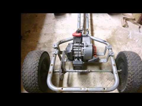 50cc pedal go kart build