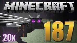 Como Matar o Ender Dragon 20x - Minecraft Em busca da casa automática #187.
