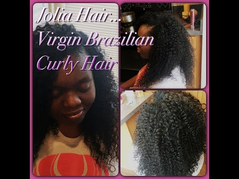 Full Weave (Side Part) with Brazilian Curly Virgin Hair From Jolia Hair On Amazon