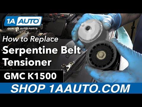 How to Replace Install Serpentine Belt Tensioner 96 GMC Sierra K1500