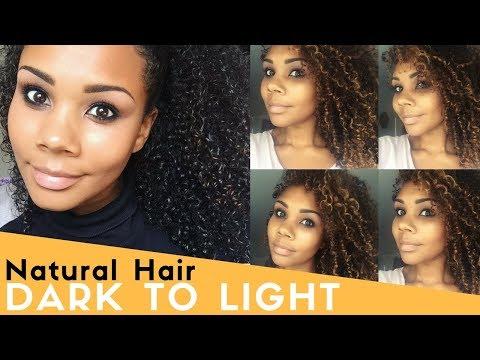 Dying My Natural Hair - Dark and lovely Golden Bronze - how to lighten dark hair