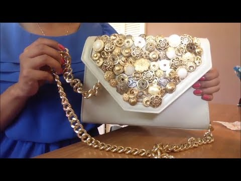 Revamp - Button Purse with Gold Chain