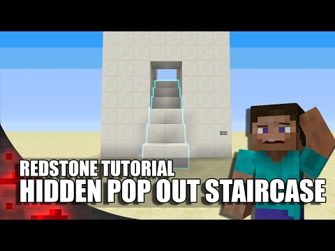 Minecraft: Hidden Pop-Out Staircase!