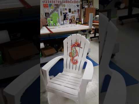 Vinyl Decal Install on Plastic Adirondack Chair