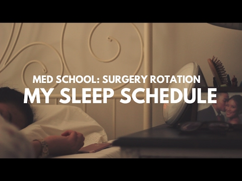 MY SLEEP SCHEDULE IN MED SCHOOL(surgery rotation) + How I Study For Anatomy   Med School Vlog