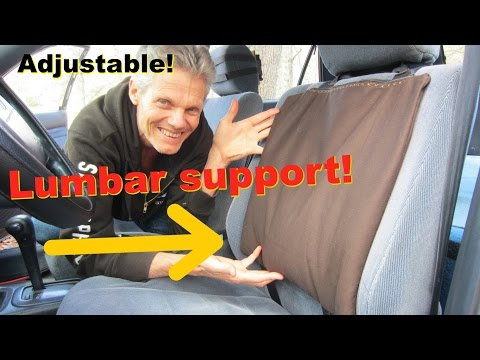Back Support for Car Seat!  Office Chairs too!  Adjustable, Durable!