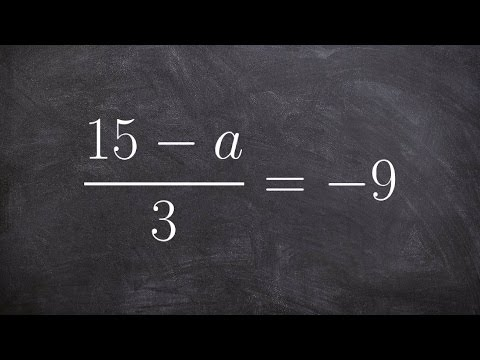 Solving two step equations with a rational expression on one side