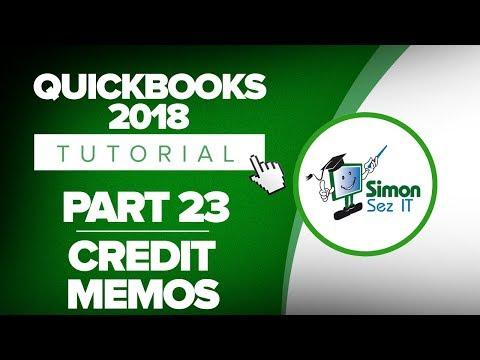 QuickBooks 2018 Training Tutorial Part 23: How to Create a Credit Memo in QuickBooks 2018