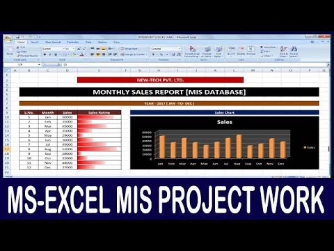 Ex- 03 Microsoft Office Excel MIS Project | How To Make Monthly Sales Rating MIS Job Work In Hindi