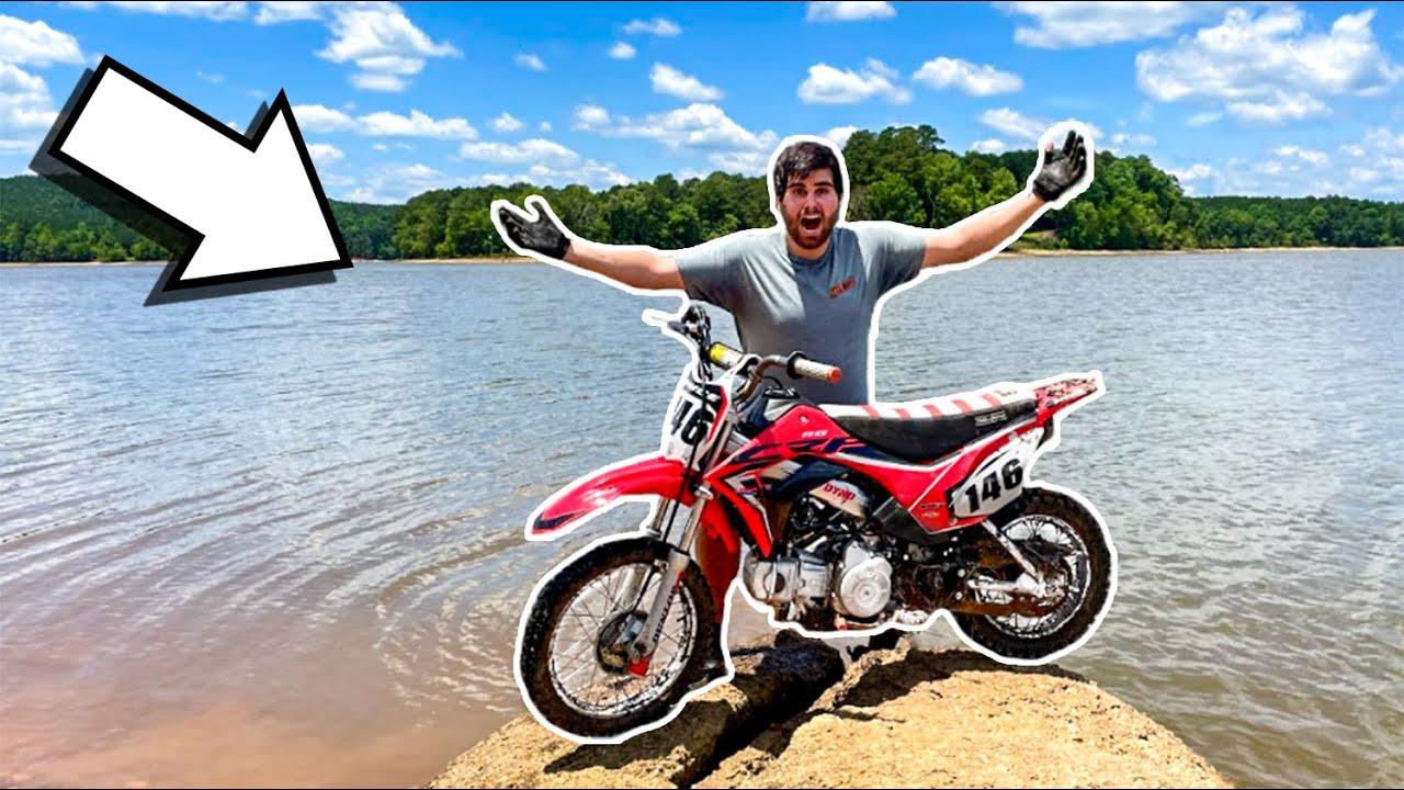 Exploring HUGE Lake on PIT BIKES! *NEVER ENDING BEACH*