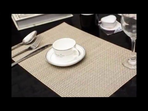 PVC placemat easy clean breakfast lunch dinner placemats anti fire place mat cup mat place mat
