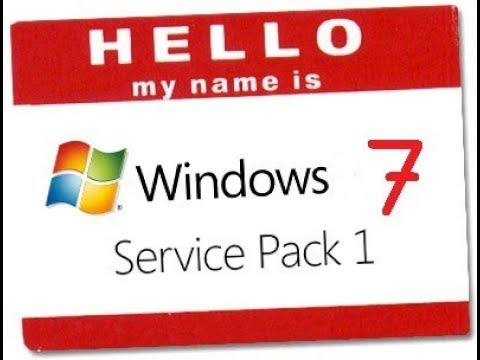 How to switch Windows  from Windows 7 to  Windows 7 Service Pack 1
