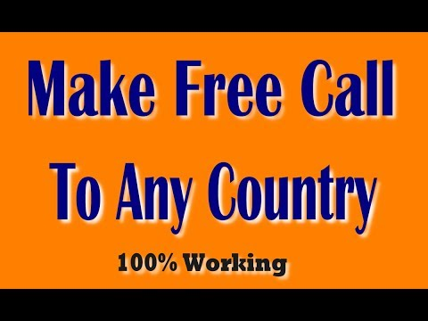 Make Free Call To Any Country With Web Browser | International Free Call