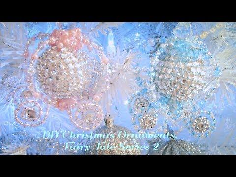 DIY Christmas Tree Ornaments, Room Decor, Cinderella Carriage!! Fairy Tale Series 2!