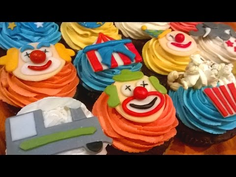 How to make Circus themed cupcakes