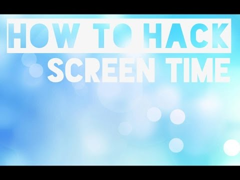 How to hack Screen Time app