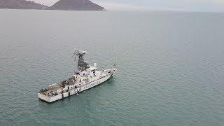 Sea Shepherd boats in San Felipe, Mexico [Drone 4k]