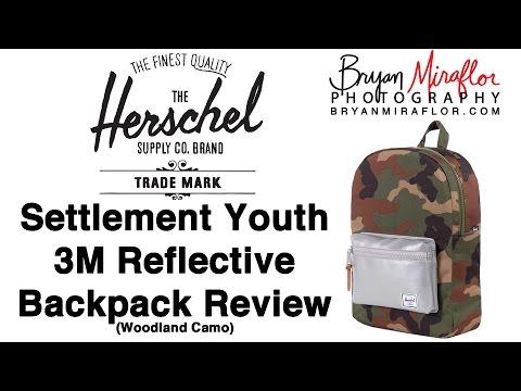 175ba07fe9a Herschel Settlement Kids Woodland Camo 3M Reflective Backpack Review  20160918